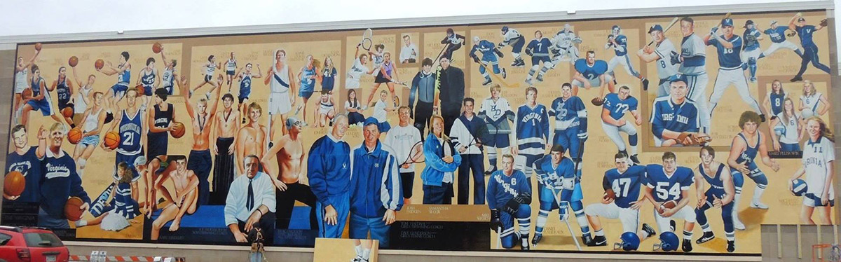 Virginia Athletic Mural